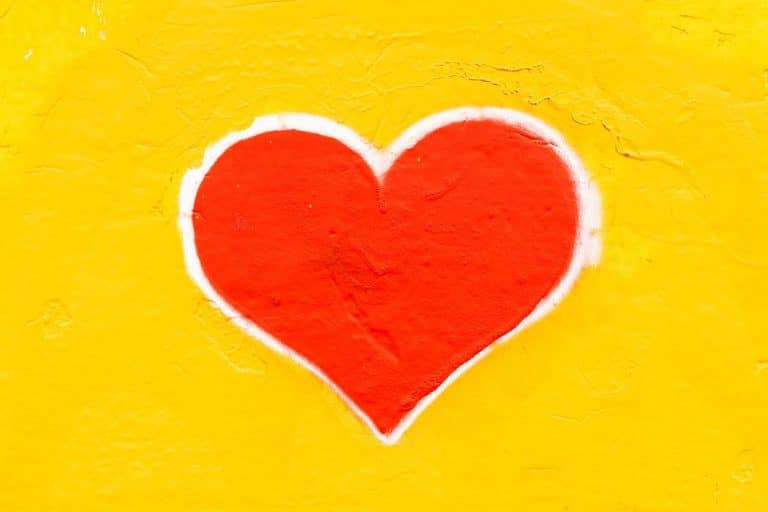 Picture of a heart painted on a wall